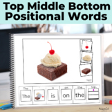 Positional Words- Top, Middle, Bottom BUNDLE Interactive Emergent Reader