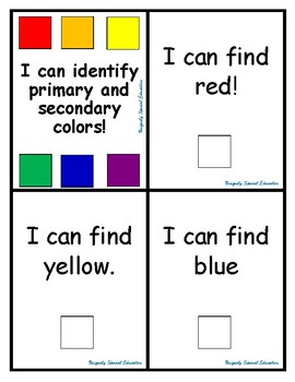 I can identify primary and seconday colors