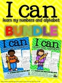 BTS - I can learn the alphabet and numbers BUNDLE - PreK and Kindergarten