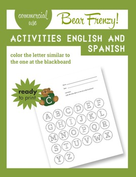I can learn the alphabet with Teddy... Activities + Clip Art (Commercial use)