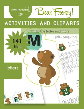 I can learn the alphabet with Teddy... Activities + Clip A