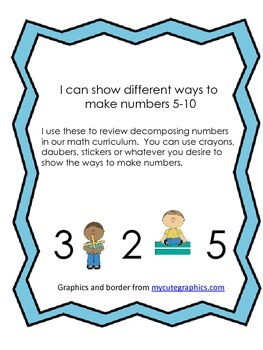I can make number pairs 5-10