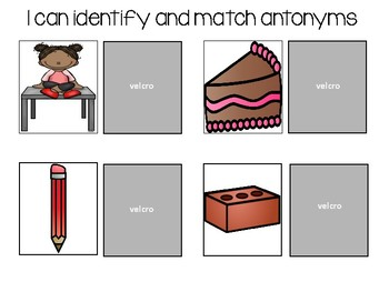 I can match synonyms and antonyms