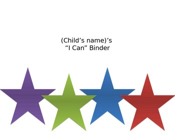 """I can"" morning binder"