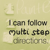 I can multi step directions