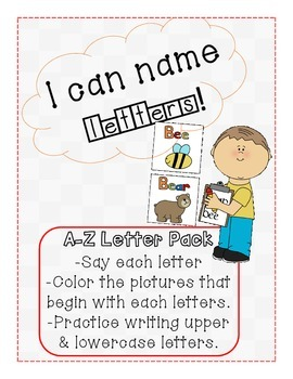 I can name letters pack