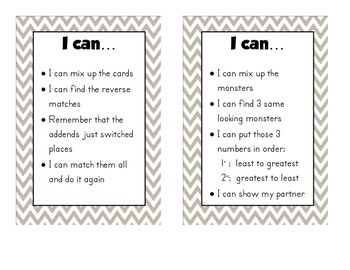 I can posters for math stations