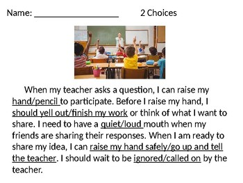 Raising Hand PowerPoint/Guided Notes