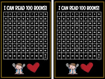 I can read 100 books chart