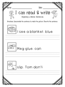 I can read Beginning Blends