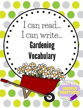 I can read, I can write-Garden Vocab