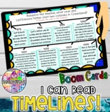 I can read Timelines | Social Studies- History BOOM Cards