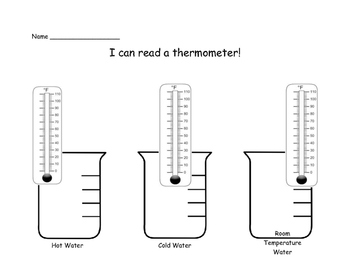 I can read a thermometer!