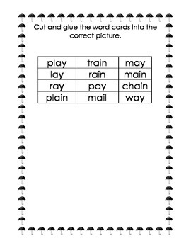 I can read and sort my Long A words! (AI/AY word sort) FREEBIE!