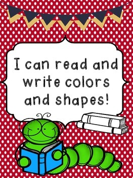 I can read and write colors and shapes!