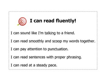 I can read fluently poster