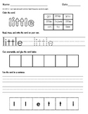 I can read, spell, and write sight words! Set 1