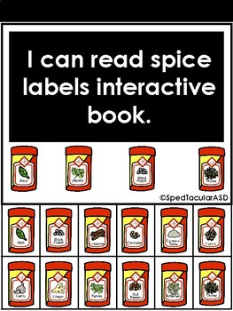 I can read spice labels INTERACTIVE BOOK!