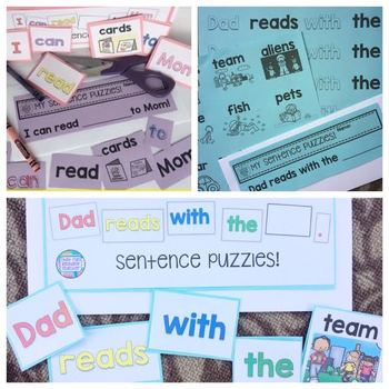 Father's Day Sight Word Reader, Mother's Day Sight Word Reader Level A / B