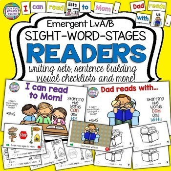 Sight Word Leveled Readers, Sentence Puzzles and Activities: Mom and Dad!