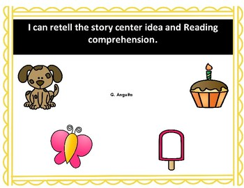 I can retell a story center idea and reading comprehension short stories