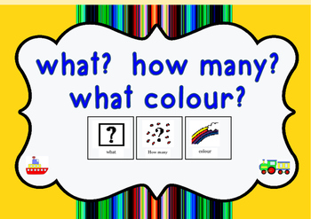 What? How many? what colour? Interactive Workbook (prescho