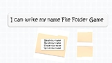 I can spell my name file folder game