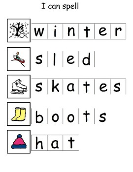 I can spell winter words