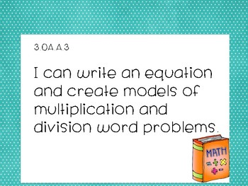 I can statements 3rd grade CCSS MATH