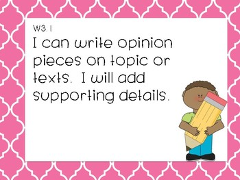 I can statements 3rd grade CCSS Writing