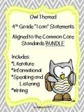 "ELA ""I can..."" statements {OWL themed} BUNDLE"