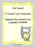 I can statements-- 4th grade Literature common core standa