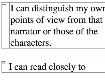 I can statements, CCSS, Mondo Bookshop