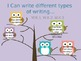 I can statements Common Core Kindergarten- Owl Theme
