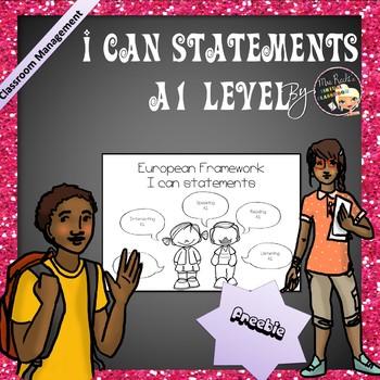 I can statements - A1 Freebie