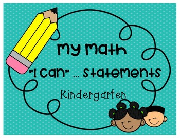 I can ... statements - KINDERGARTEN - My Math Program.