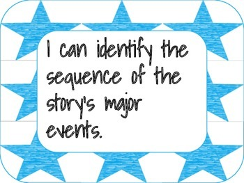 I can statements: Literature CCSS--1st grade