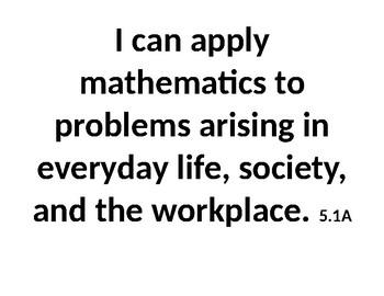 I can statements- Math