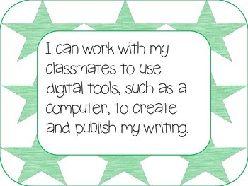 I can statements: Writing CCSS--1st grade