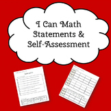 I can statements and self assessment - Grade 3 Math Saskatchewan