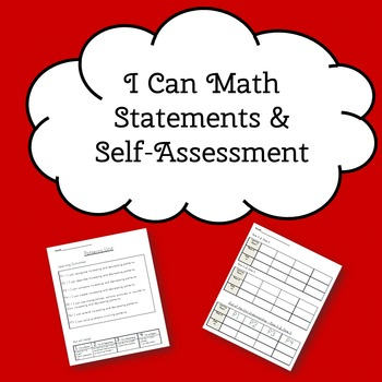 I can statements and self assessment - Grade 3 Math Saskatchewan