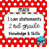 I can statements for 2nd Grade Math TEKS