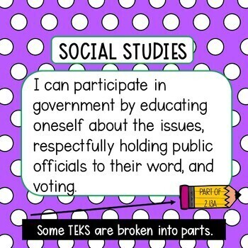I can statements for 2nd Grade Social Studies