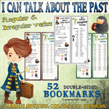 """I can talk about the past + first IRREGULAR verbs - """"Fantastic Beasts"""" BOOKMARKS"""