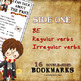 I can talk about the past + My first IRREGULAR verbs - Harry Potter BOOKMARKS