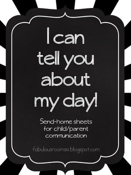 I can tell you about my day: Send-home picture communication pages