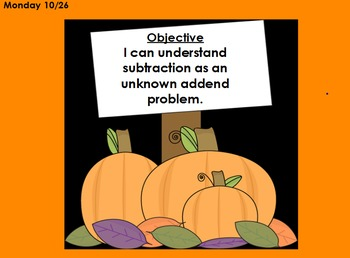 I can understand addition and subtraction as an unknown addend problem