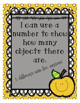 I can use a number to show how many objects (K.CC.B.4)
