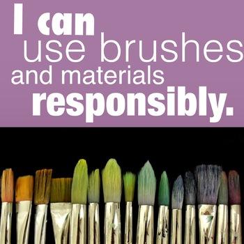 I can use materials responsibly