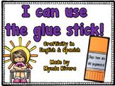 I can use the glue stick!